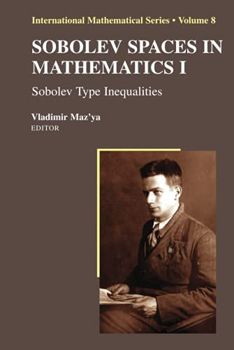 9780387856476: Sobolev Spaces in Mathematics I: Sobolev Type Inequalities: v. 1 (International Mathematical Series)