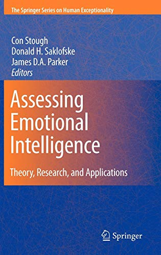 9780387883694: Assessing Emotional Intelligence: Theory, Research, and Applications (The Springer Series on Human Exceptionality)