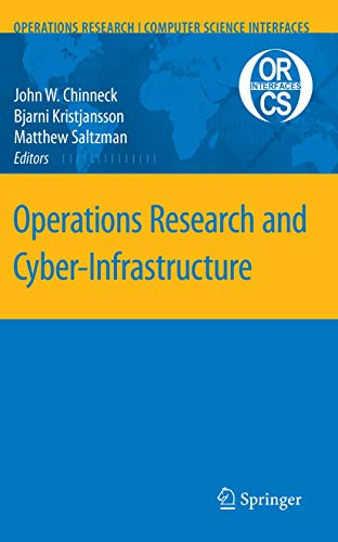 9780387888422: Operations Research and Cyber-Infrastructure