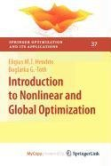 9780387889245: Introduction to Nonlinear and Global Optimization