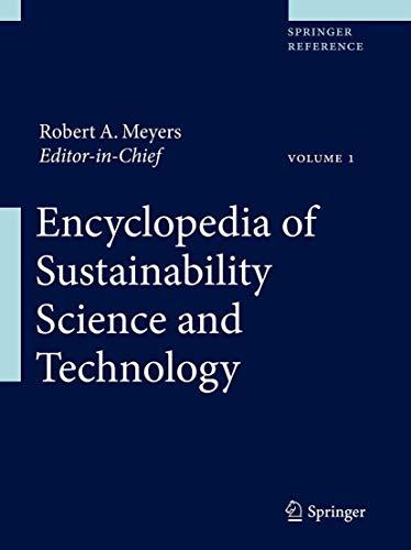 Encyclopedia of Sustainability Science and Technology (Hardback)