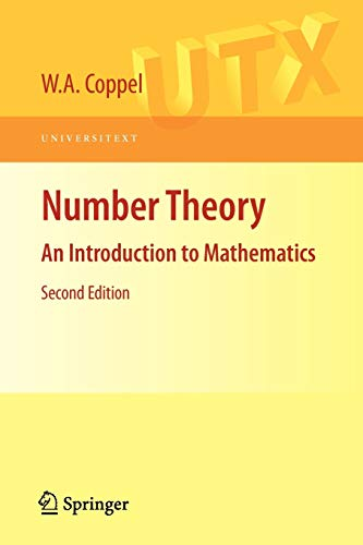9780387894850: Number Theory: An Introduction to Mathematics