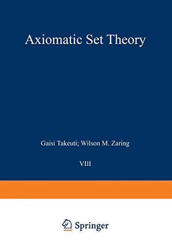 9780387900506: Axiomatic Set Theory (Graduate Texts in Mathematics)