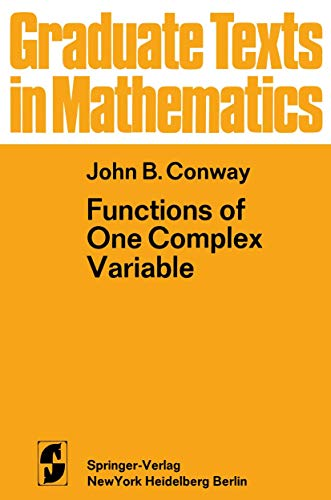 9780387900629: Functions of One Complex Variable (Graduate Texts in Mathematics)
