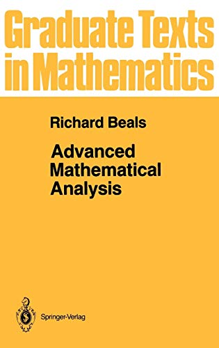 9780387900650: Advanced Mathematical Analysis: Periodic Functions and Distributions, Complex Analysis, Laplace Transform and Applications (Graduate Texts in Mathematics)