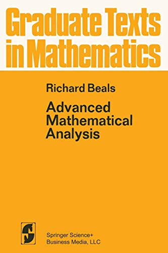 9780387900667: Advanced Mathematical Analysis: Periodic Functions and Distributions, Complex Analysis, Laplace Transform and Applications: 12 (Graduate Texts in Mathematics)