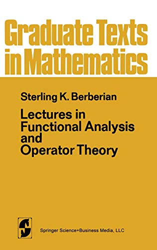 9780387900803: Lectures in Functional Analysis and Operator Theory (Graduate Texts in Mathematics)