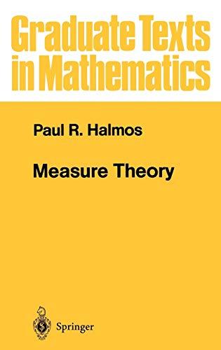 9780387900889: Measure Theory (Graduate Texts in Mathematics) (v. 18)