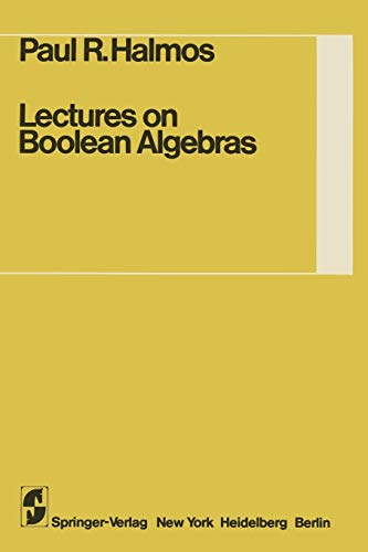 9780387900940: Lectures on Boolean Algebras