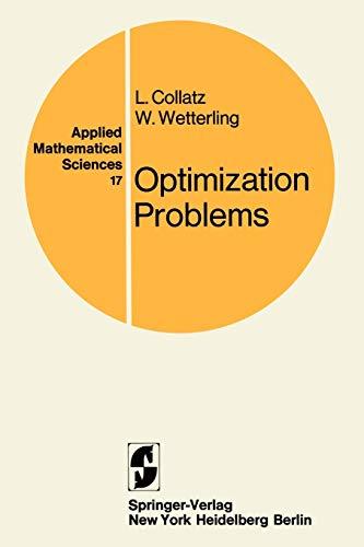 9780387901435: Optimization Problems (Applied Mathematical Sciences)