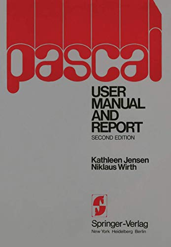 9780387901442: PASCAL User Manual and Report (Springer Study Edition)