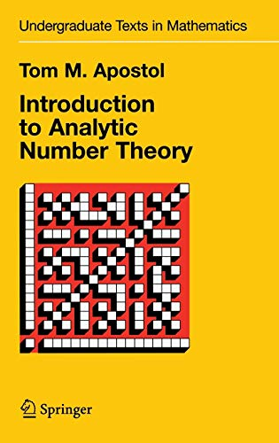 9780387901633: Introduction to Analytic Number Theory