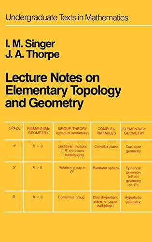 9780387902029: Lecture Notes on Elementary Topology and Geometry (Undergraduate Texts in Mathematics)