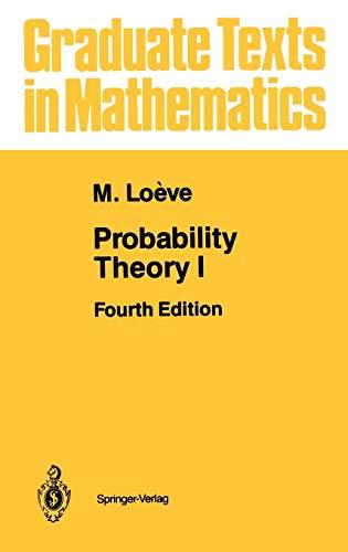 Probability Theory I (v. 1): M. Loeve