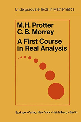9780387902159: A first course in real analysis by Murray H. Protter
