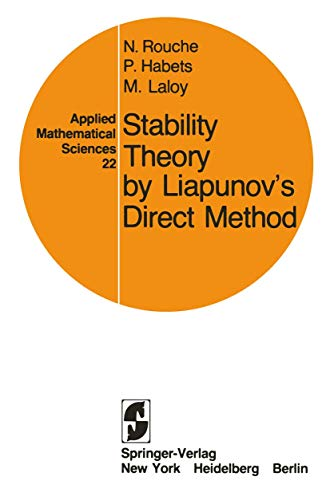 9780387902586: Stability Theory by Liapunov's Direct Method