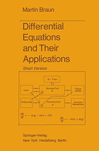 9780387902890: Differential equations and their applications