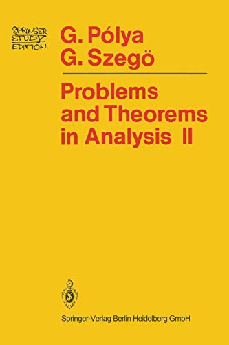 9780387902913: Problems and Theorems in Analysis: Theory of Functions · Zeros · Polynomials Determinants · Number Theory · Geometry (Springer Study Edition)