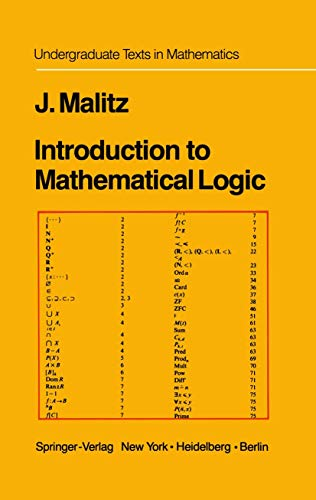 9780387903460: Introduction to Mathematical Logic: Set Theory Computable Functions Model Theory (Undergraduate Texts in Mathematics)