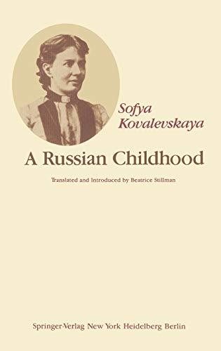 9780387903484: A Russian Childhood