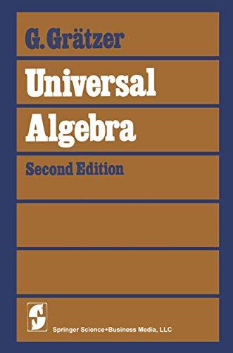 9780387903552: Universal Algebra