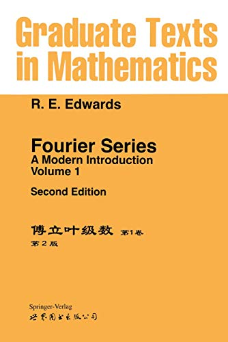 9780387904122: Fourier Series. a Modern Introduction: Volume 1