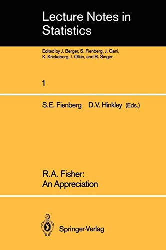 9780387904764: R.A. Fisher: An Appreciation (Lecture Notes in Statistics)