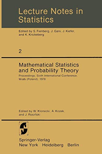Mathematical Statistics and Probability Theory: Proceedings, Sixth: W. Klonecki