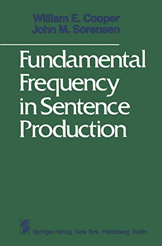 9780387905105: Fundamental Frequency in Sentence Production