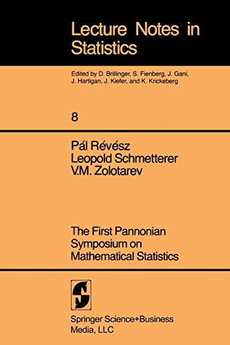 First Pannonian Symposium On Mathematical Statistics. (Lecture: P. Revesz (Editor),