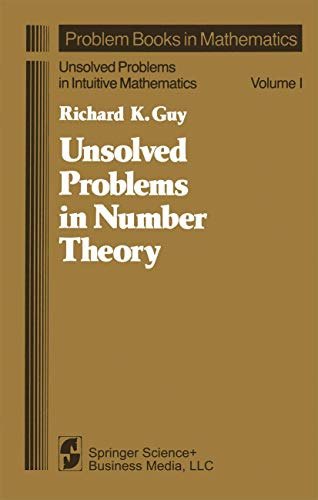 9780387905938: Unsolved Problems in Number Theory (Problem books in mathematics)