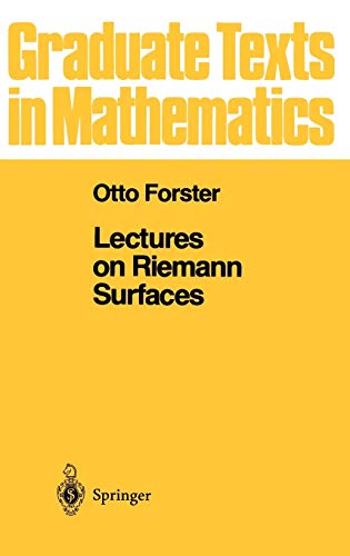 9780387906171: Lectures on Riemann Surfaces: 081