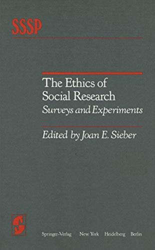 9780387906874: The Ethics of Social Research: Surveys and Experiments (Springer Series in Social Psychology)