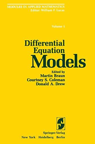 Modules in Applied Mathematics: Volume 1: Differential: Martin Braun