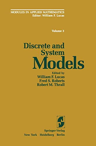 9780387907246: Discrete and System Models: Volume 3: Discrete and System Models (World Crop Series)