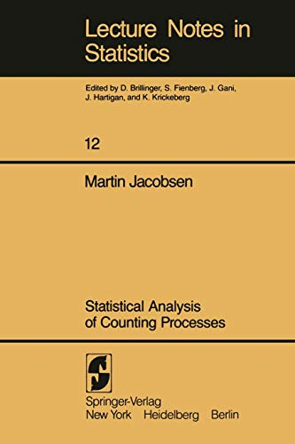 9780387907697: Statistical Analysis of Counting Processes (Lecture Notes in Statistics)