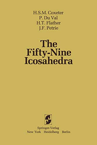 9780387907703: The Fifty-Nine Icosahedra (Lecture Notes in Statistics)
