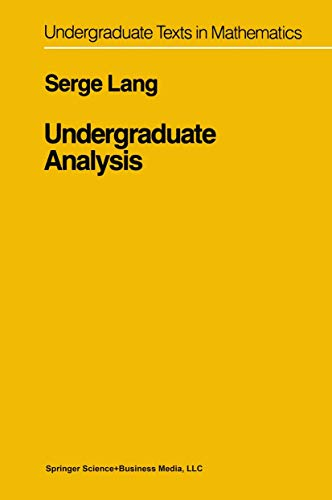 9780387908007: Undergraduate Analysis (Undergraduate Texts in Mathematics)