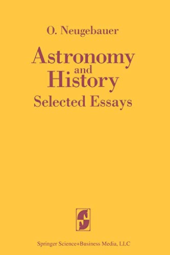 9780387908441: Astronomy and History Selected Essays (English and German Edition)