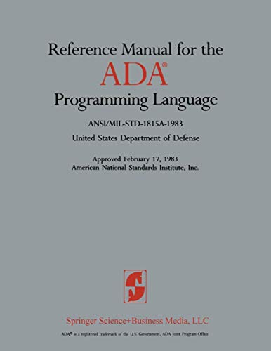 Reference Manual for the ADA® Programming Language: Defense, United States Department of