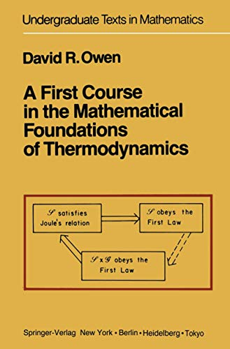 9780387908977: A First Course in the Mathematical Foundations of Thermodynamics (Undergraduate Texts in Mathematics)