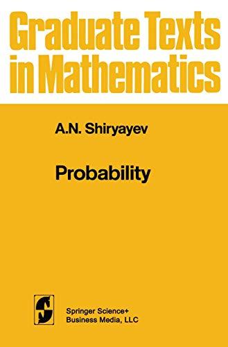 9780387908984: Probability (Graduate Texts in Mathematics)