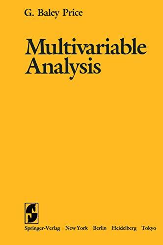 9780387909349: Multivariable Analysis