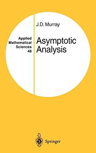 9780387909370: Asymptotic Analysis (Applied Mathematical Sciences)