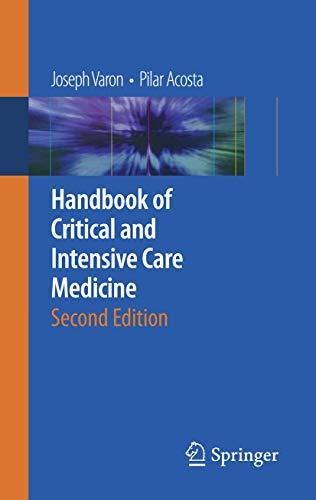 9780387928500: Handbook of Critical and Intensive Care Medicine