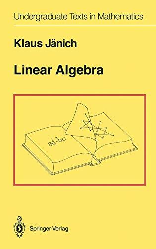 9780387941288: Linear Algebra (Undergraduate Texts in Mathematics)