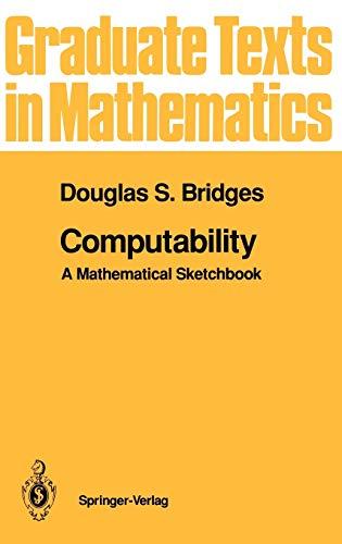 9780387941745: Computability: A Mathematical Sketchbook (Graduate Texts in Mathematics) (v. 146)