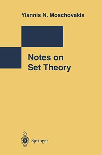 9780387941806: Notes on Set Theory (Undergraduate Texts in Mathematics)