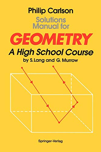 9780387941813: Solutions Manual for Geometry: A High School Course