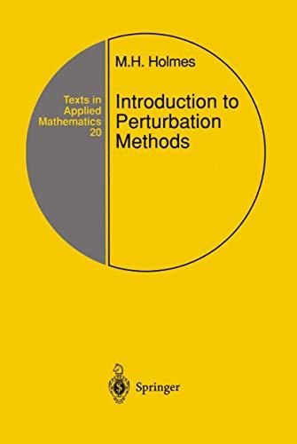 9780387942032: Introduction to Perturbation Methods: v. 20